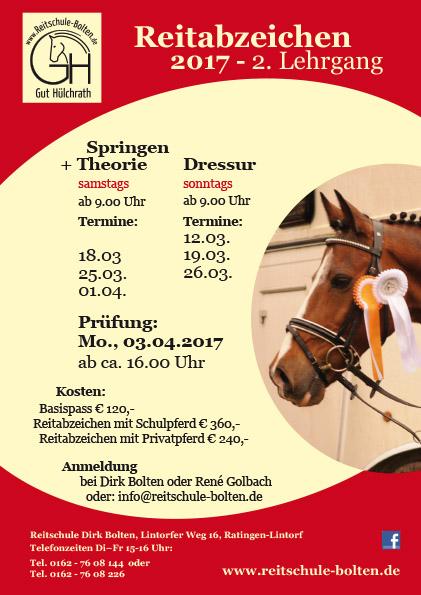 BOL Plakat Reitabzeichen 2017_LEHRGANG 2