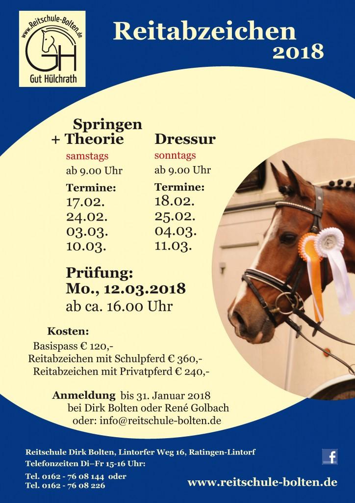 BOL Plakat Reitabzeichen 2018